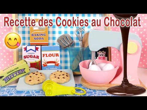 Jeu D'Imitation Recette Des Cookies Au Chocolat Facile Ustensiles Ingrédients