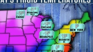 Repeat youtube video Polar vortex brings record low temperatures