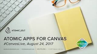 Atomic Apps for Canvas LMS, Webinar recording from #CanvasLive August 2017