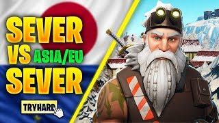 Server Vs Server In Fortnite Season 7 (ASIA VS EU)