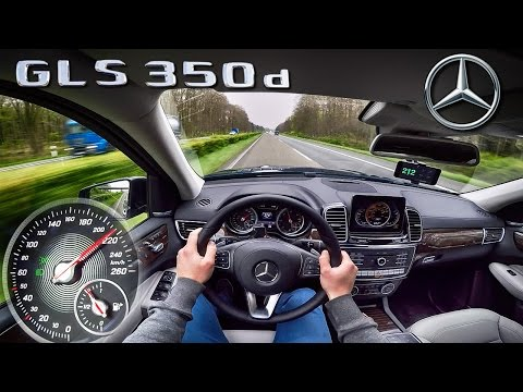 Mercedes Benz GLS 350d ACCELERATION & TOP SPEED AUTOBAHN POV by AutoTopNL