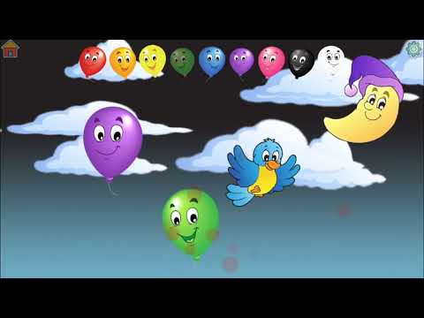 Learn Colors with Balloons - Kids Digi World