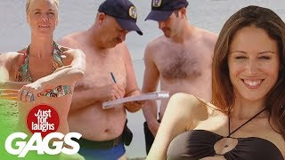 Repeat youtube video Best Beach Pranks - Best of Just for Laughs Gags