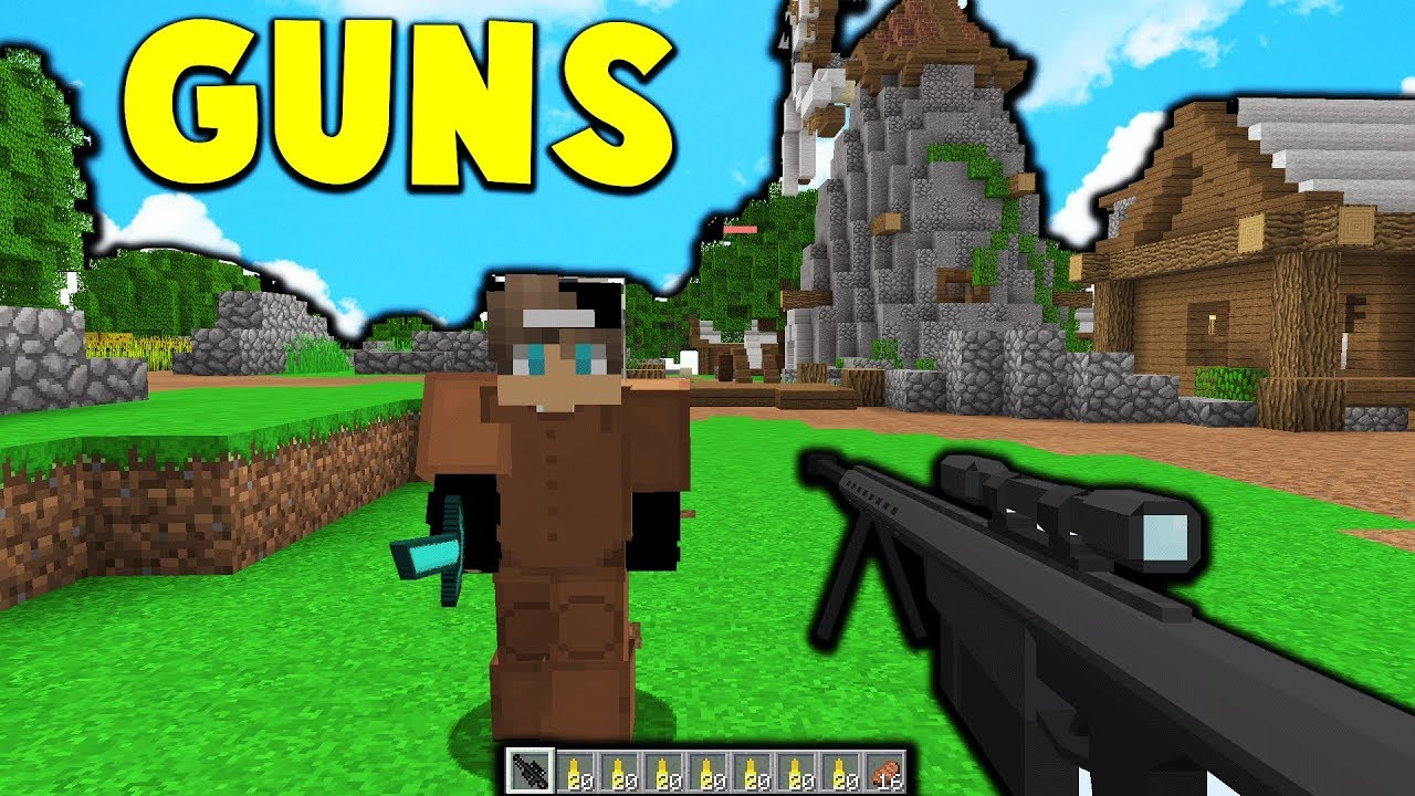 NEW VERY OP GUNS in Minecraft BATTLE ROYALE YouTube
