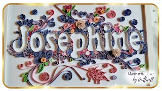 Quilling Name . Quilling Typography. Quilled Letters