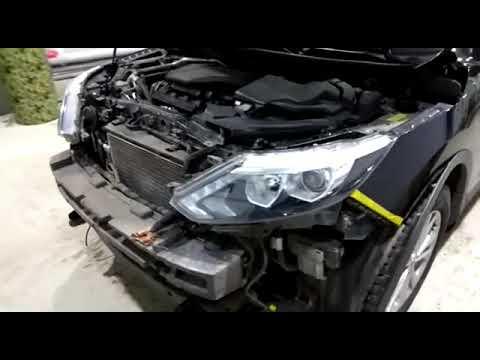 Замена штатных галогеновых линз на Би линзы под лампы D2S на Nissan Qashqai