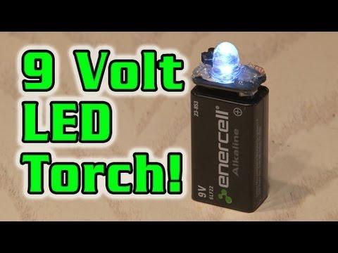 9 Volt Led Torch Youtube