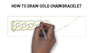 How To Draw Gold Chain Bracelet