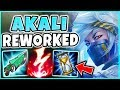 WTF?! AP BRUISER AKALI REWORK BUILD IS LEGIT 1V5 MODE?!? THERE IS NO ESCAPE! REWORKED AKALI GAMEPLAY