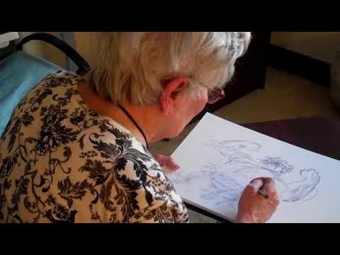 Marie Severin draws The Hulk