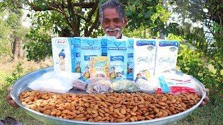 Almond Milkshake Recipe | Dry fruit Milkshake | Badam Milk Recipe Prepared By Our Grandpa