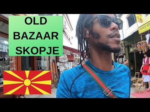 This is the Old Bazaar in Skopje Macedonia