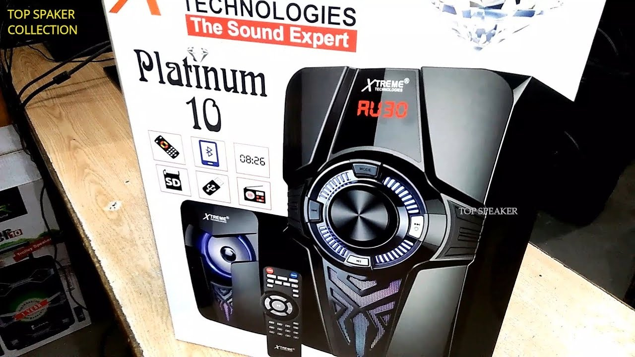 Platinum 10 Xtreme Bass Advance Bluetooth Speaker Latest 2018 Unboxing