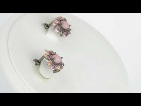 Серебряные серьги с натуральным опалом| Sterling Silver Earrings With Natural Opal