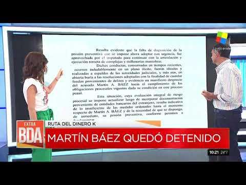 Martín Báez quedó detenido tras declarar en Comodoro Py