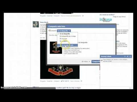 Como Enviar Imágenes Por Chat De Facebook- 2013