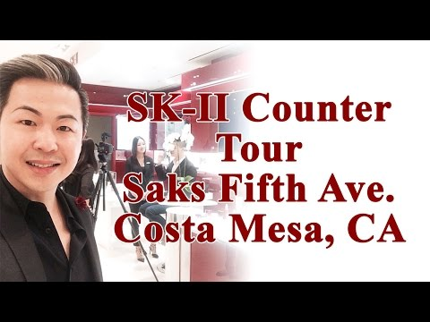 SK-II Counter Tour At Saks Fifth Ave. Costa Mesa, CA