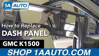 How to Remove Install Dash Panel 1996 GMC Sierra Buy Quality Auto Parts at 1AAuto.com