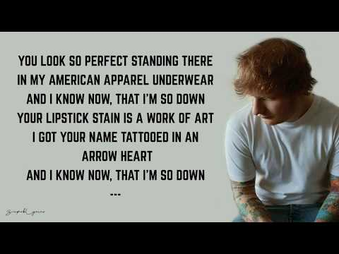 Ed Sheeran - She Looks So Perfect (Lyrics)