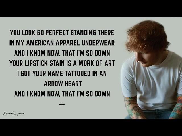 Ed Sheeran She Looks So Perfect Lyrics Youtube