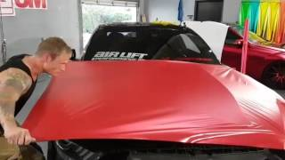 How to vinyl wrap a hood / bonnet larger than 60 inches. How to vinyl wrap a Mustang. By @ckwraps
