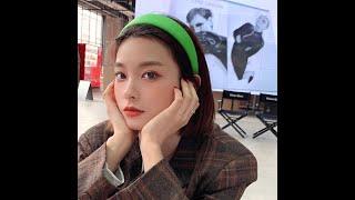 Женский обруч для волос из искусственной кожи простой однотонный в корейском стиле широкий