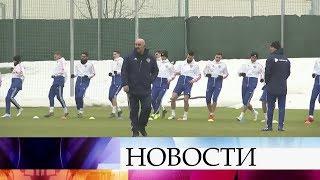 Сборная России по футболу провела открытую тренировку перед матчем c Бельгией.