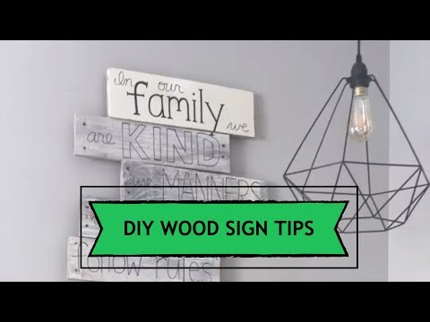 3 Wood Sign Techniques | DIY Home Decor | Hand-Lettered Wooden Signs