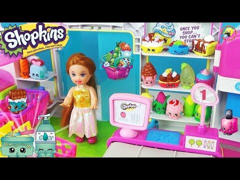 видео: Шопкинс Супермаркет! Игровой набор магазин / shopkins supermarket small mart playset toy