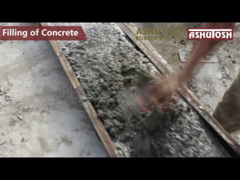 Making Of Compound Wall From ASHUTOSH RUBBER Mould - YouTube