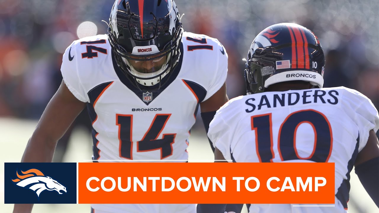 best authentic 3b3d7 c7d08 WR corps led by Emmanuel Sanders & Courtland Sutton full of potential