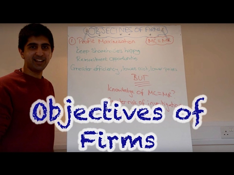 Y2/IB 10) Objectives of Firms - Profit Max, Rev Max, Sales Max, Satisficing