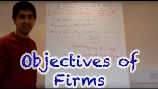 Y2/IB 10) Objectives of Firms - Profit Max, Rev Max, Sales Max, Satisficing