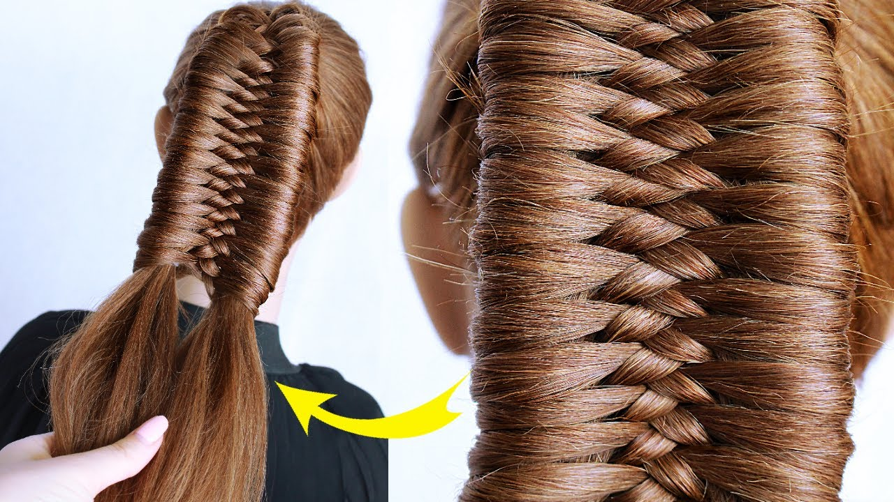 😱 Diamond Braided PONYTAIL by Another Braid | New hairstyle for wedding and party || trending