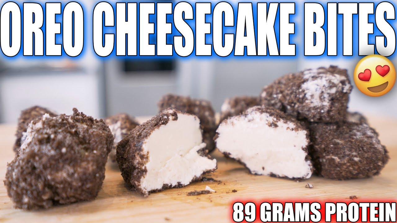 ANABOLIC OREO CHEESECAKE BITES   High Protein Bodybuilding Dessert Recipe