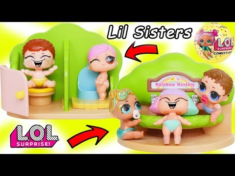 LOL Surprise Dolls + Lil Sisters in Toy School and Fake Mania Vending Machine