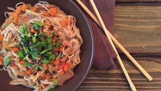 Asian Rice Noodles With Chicken By Maryna Kharlamova