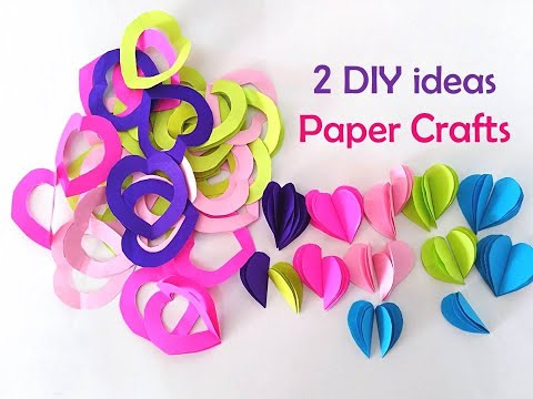 2 DIY Paper Craft ideas | Wall Hanging Heart Designs | Home decoration ideas |Valentines Day designs