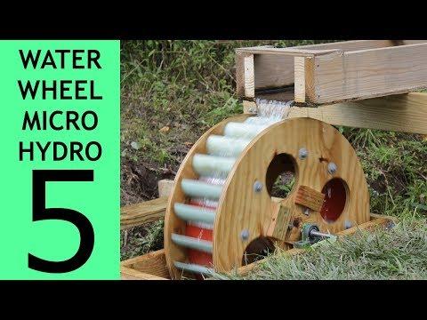 [Part 5 of 10] Waterwheel Microhydro, Waterwheel Installation