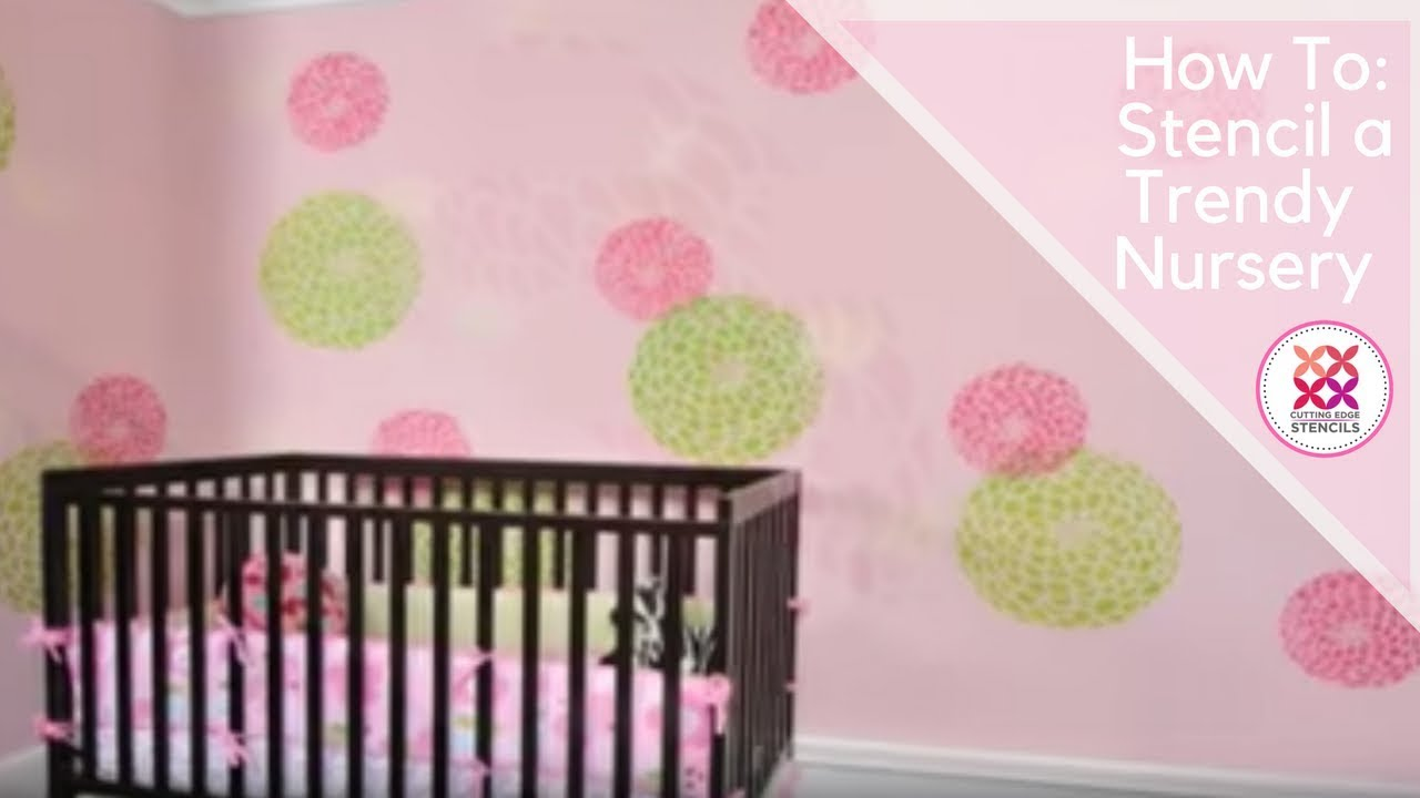 Stencils Learn How To Stencil By Cutting Edge Wall For DIY Decor