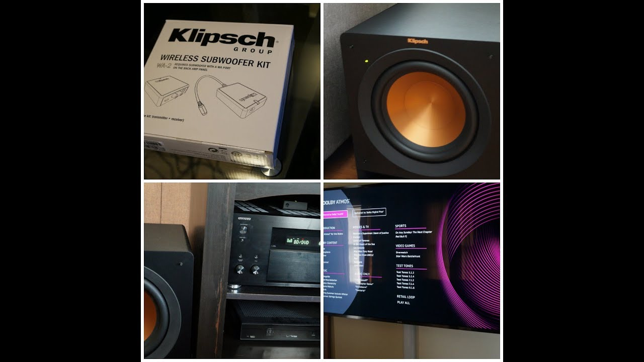 Klipsch WA-2 wireless subwoofer kit install & demo.. - YouTube