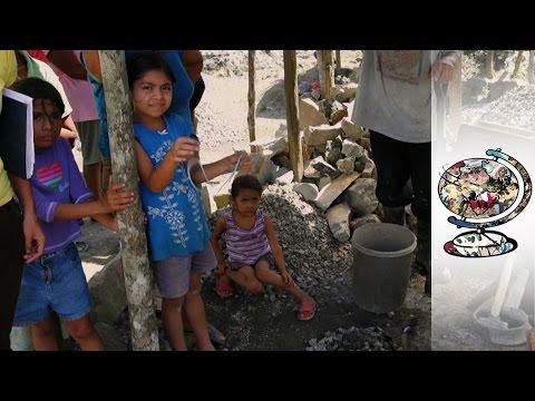 In Nicaragua Children Work in Quarries Instead of Going to School (2011)