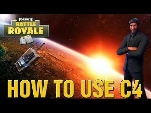 FORTNITE BATTLE ROYALE HOW TO USE C4 ULTIMATE GUIDE! HOW TO USE C4 IN FORTNITE LIVE!