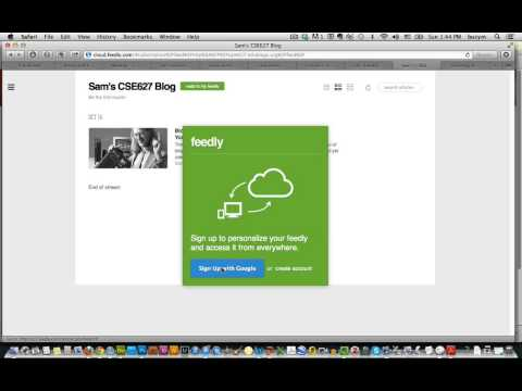 Feedly Introduction Tutorial