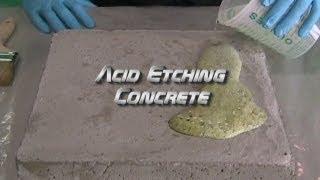 Acid Etching Concrete