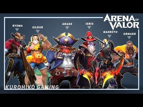 Tebar Garam, Hero dan Skin Super Keren Arena of Valor (AOV)