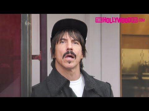 Anthony Kiedis Stops By Alfred Tea On Melrose Place In West Hollywood 1.8.18