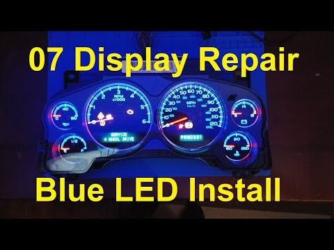 2007 Chevy Cluster Display Repair & Blue LED Install