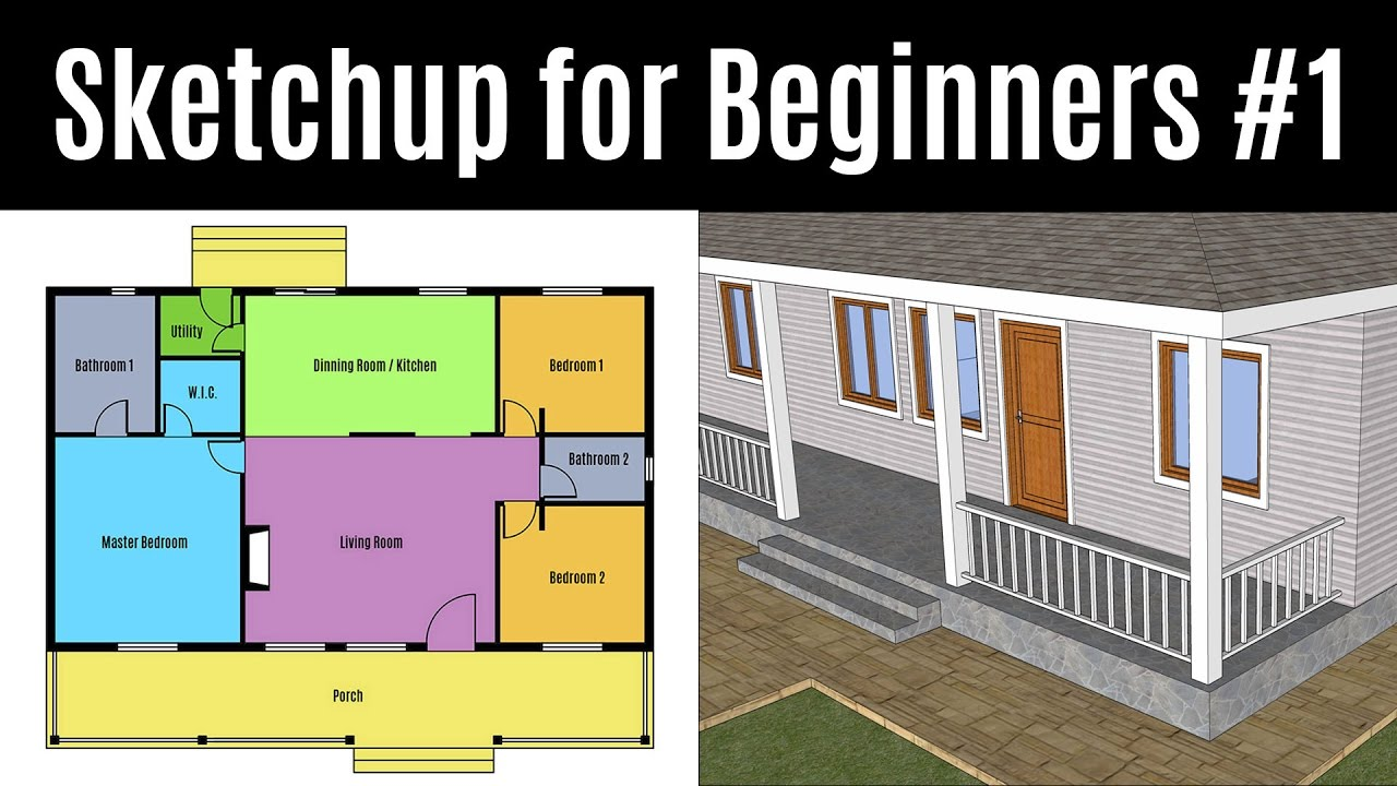 Sketchup for beginners part 1 how to create your first for 3d max lessons for beginners