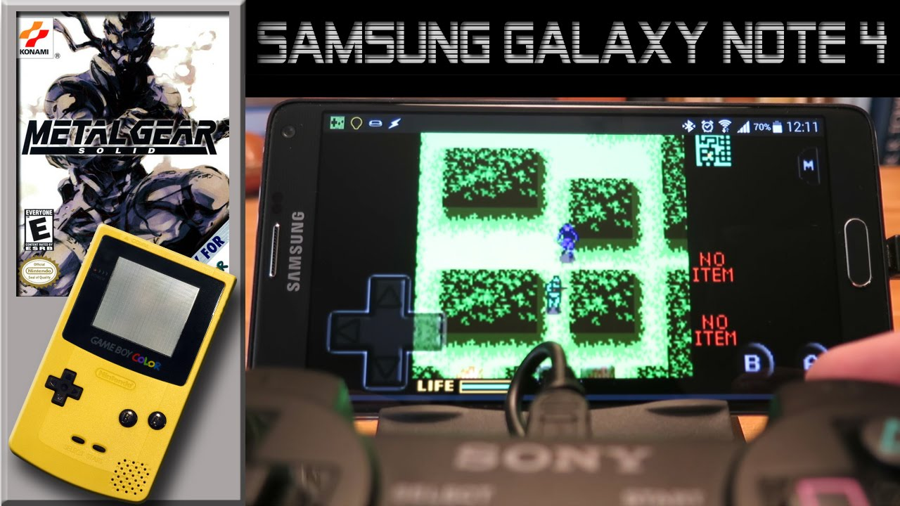 Gameboy color emulators - Gameboy Color Emulator On Samsung Galaxy Note 4 Metal Gear Solid G B Ad Emulator